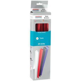 Parrot Slide Binders A4 7mm - Red (Pack of 25)