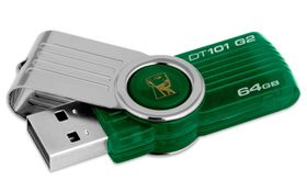 Kingston - 64GB DataTraveler 101 Gen 2 - Green