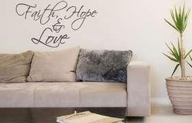 Fantastick - Faith - Hope and Love Vinyl Wall Poetry