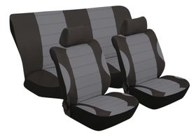 Stingray - Grand Prix 6 Piece Seat Cover Set- Grey