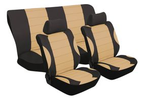 Stingray - Grand Prix Polyester 6 Piece Seat Cover Set -Tan