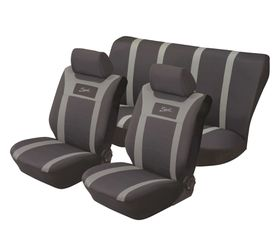 Stingray - Sport Polyester 6 Piece Seat Cover Set- Grey