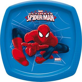 Spiderman Go Square Plate