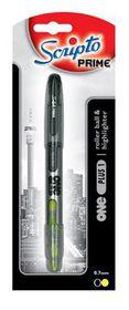 Scripto Prime One Plus 1 Rollerball Pen & Highlighter (2-in-1)