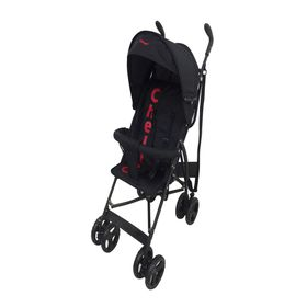 Chelino - Clio 2 Position Buggy with Front Bar and Shade - Black and Red