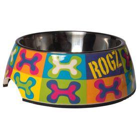 Rogz 2-in-1 Small 160ml Bubble Dog Bowl - Pop Art Design