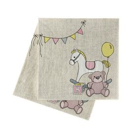 Ginger Ray Rock-a-Bye Baby Napkins - 20 pack