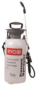 Ryobi - 6 Litre Pressure Sprayer With 1.2M Hose