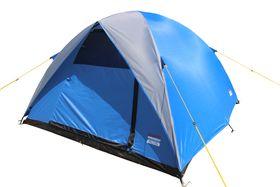 Bushtec - Falcon Casual Camper Dome Tent - Blue & Grey