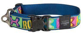 Rogz Fancy Dress Extra Extra Large 40mm Special Agent Dog Collar - Pop Art Design