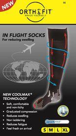 Orthofit Inflight Socks - Black - Large