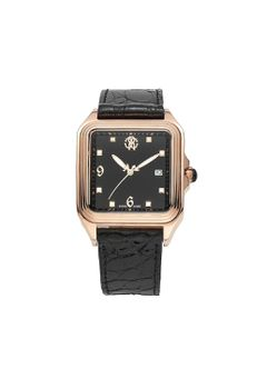 Roberto Cavalli Men's Venom Analogue Watch R7251192025 with 3 hands, Crown with Onyx Cabochon and Stainless Steel Case