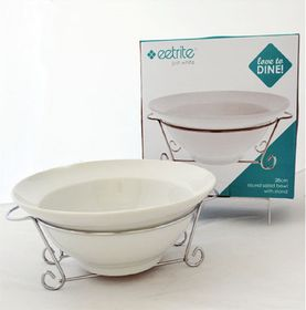 Eetrite - Round Salad Bowl With Stand - 28 cm