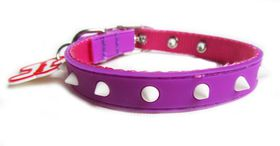 Dog's Life - Non-Toxic PVC Spike Collar Purple - Small