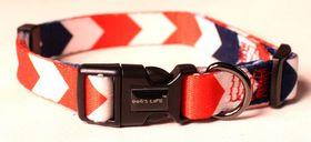 Dog's Life - Pooch Webbing Collar Nautical - Large