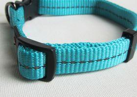Dog's Life - Reflective Supersoft Webbing Collar - Turquoise - Extra-Large
