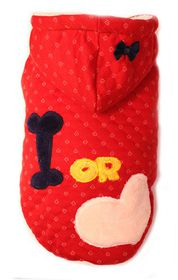 Dog's Life - Bone or Love Hoodie Red - 6XL