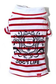 Dog's Life - Gentleman's Polo Shirt Red - 2 x Extra-Large