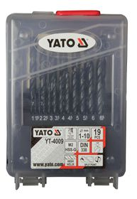Yato - HSS Twist Drill Bit Sets - 19 Piece