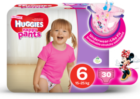 Huggies - Nappy Pants Girl - 30 - Size 6