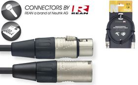 Stagg NMC1R 1M N-Series XLR Microphone Cable with Rean Connectors
