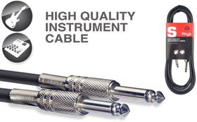 Stagg SGC15 S-Series 1.5M Instrument Cable - Black