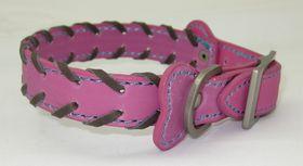Pucci - Leather Collar - Pink - Medium (36cm x 1.8cm)