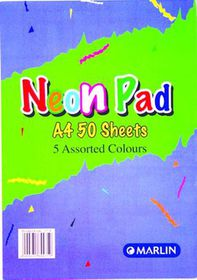 Marlin A4 Neon Pad 50 Sheets