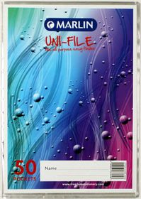 Marlin Uni-File A4 Soft Cover Display File - 50 Pocket