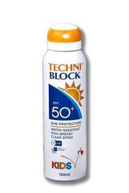 Techniblock SPF 50+ Kids Sun Spray 150ml
