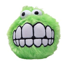 Rogz Fluffy Grinz Small 5.5cm Dog Plush Squeak Toy - Lime