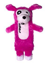 Rogz Thinz Large 33cm Plush Refillable Squeak Dog Toy - Pink
