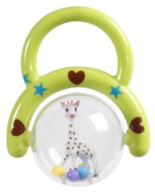 Sophie La Giraffe - Rattle with Handle - Green
