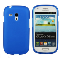 Frosted Samsung Galaxy S3 Mini i8190 Case - Blue