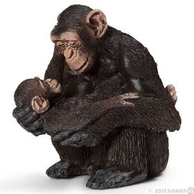 Schleich Chimpanzee Female with Baby