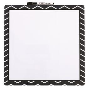 Quartet Magnetic Dry Erase Fashion Board - Chevron