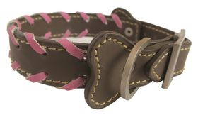 Pucci Leather Collar Brown - Large 32cm x 1.8cm