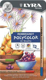 Lyra Rembrandt Polycolor Pencils - 12 Colours in Metal Box