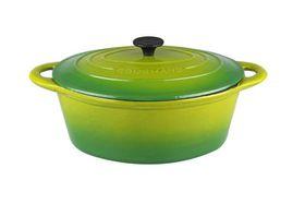 Gourmand - 4.5 Litre Oval Cast Iron Casserole - Green