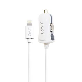 Jivo - Car Charger for Apple iPhone and iPads - with Lightning Port (2100AMP) - White