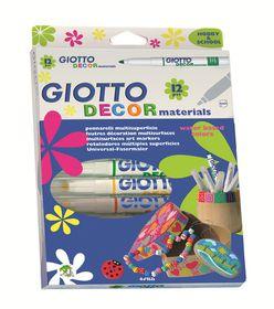 Giotto Decor Materials 12 Fibre-Tip Pens