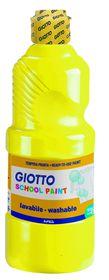 Giotto School Paint 500ml - Primary Yellow