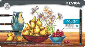 Lyra Art Pens - 40 Colours in Metal Box