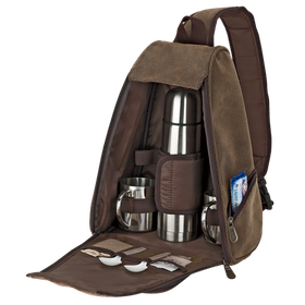 Eco Out of Africa Sling Bag Coffee Set - Brown