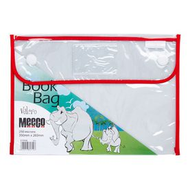 Meeco Book Bag with Velcro Closure - Red Piping