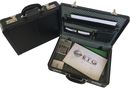 Tosca Executive PVC Briefcase with Combo Locks - Expandable - Black