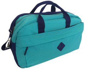 Edison Sport Crinkle Nylon Medium Sports Bag - Blue/Navy
