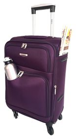 Tosca Gold Ultra Light 50cm Cabin Case - Purple/Grey