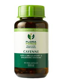 Flora Force Cayenne - 90 Capsules
