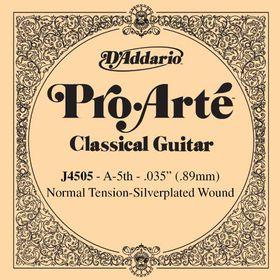 D'Addario J4505 Pro-Arte Normal Tension Nylon Classical Guitar Single String - A Fifth String